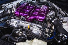 Sport car engine Royalty Free Stock Photography