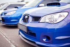 Sport car headlight stock photography