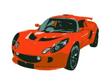 Sport Car Illustration. Illustration of a sport car Royalty Free Stock Photo