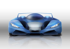 Sport car illustration. Illustration of the sport car looks like fighter aircraft Royalty Free Stock Images