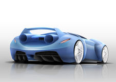Sport car illustration. Illustration of the sport car looks like fighter aircraft Stock Images