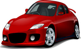 SPORT CAR ILLUSTRATION Royalty Free Stock Photos