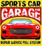 Sport car illustration, t-shirt illustration, sport, boys Stock Images
