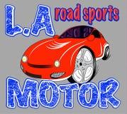 Sport car illustration, t-shirt illustration, sport, boys Royalty Free Stock Image
