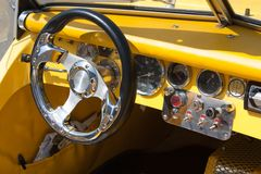 Sport car interior Royalty Free Stock Photo