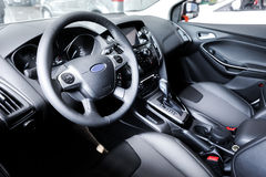 Sport car interior,cab stock photo