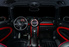 Sport car interior Stock Photos