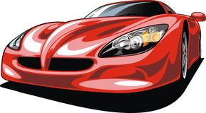 Sport car isolated. On the white background Royalty Free Stock Photography