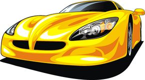 Sport car isolated. On the white background Stock Images