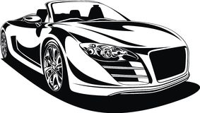 Sport car isolated. On the white background Stock Photo