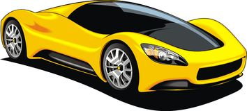 Sport car isolated Stock Image