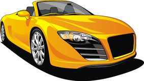 Sport car isolated Royalty Free Stock Image