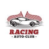 Sport car Laufen der Auslegungschablone Vektor und Illustrationen lizenzfreie abbildung