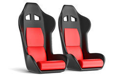 Sport car leather seats Stock Photos