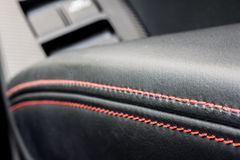 Sport car leather trimming Stock Photos