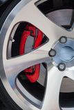 Sport car light alloy wheels Royalty Free Stock Photography