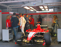 A sport car of Marussia F1 team Royalty Free Stock Image