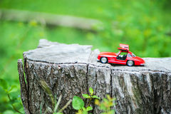 Sport car model in nature place . Stock Image