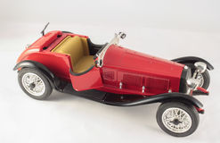 Sport car model. Red metal model of an historic sport car Royalty Free Stock Photos