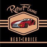Sport car old vintage poster Stock Image