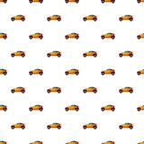 Sport car pattern. Seamless repeat in cartoon style vector illustration Stock Photo
