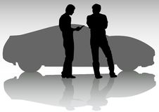 Sport car and people Royalty Free Stock Image