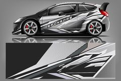 Free Sport Car Racing Wrap Design. Vector Design. - Vector Royalty Free Stock Photos - 143550738
