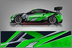 Sport car racing wrap design. vector design. - Vector royalty free illustration