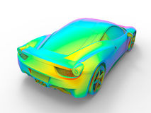 Sport car rainbow concept Stock Images
