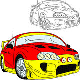 Sport car rally. Vector - Rally car tuning isolated on background Royalty Free Stock Image