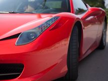 Sport car. Red sport car modern luxury close up detail Stock Image