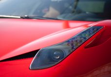 Sport car. Red sport car modern luxury close up detail Stock Images