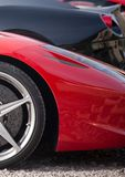 Sport car. Red sport car modern luxury close up detail Royalty Free Stock Image