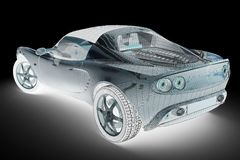 Sport car render Royalty Free Stock Photography