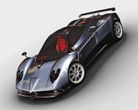 Sport car rendering Stock Photos