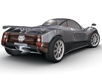 Sport car rendering Royalty Free Stock Photography