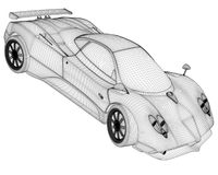 Sport car rendering Royalty Free Stock Images