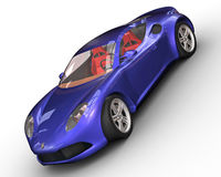 Sport car rendering Royalty Free Stock Image