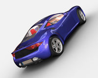 Sport car rendering Stock Image