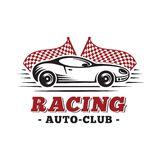 Sport car Rennend ontwerpmalplaatje Vector en illustraties royalty-vrije illustratie