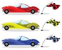 Sport car set Royalty Free Stock Image