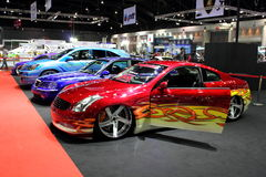 Sport Car show in Autosalon 2013 in thailand Royalty Free Stock Images