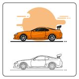 Sport car side view royalty free illustration