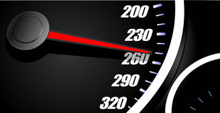 Sport car speedometer Stock Image