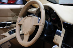 Sport car steering wheel Royalty Free Stock Photography