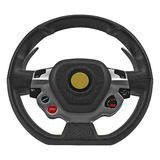 Sport Car Steering Wheel on white. 3D illustration Stock Photos
