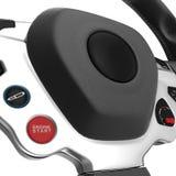 Sport Car Steering Wheel on white. 3D illustration Stock Images