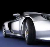 Sport car in studio. Luxurious sport car in studio (high resolution 3d rendered image Stock Photography
