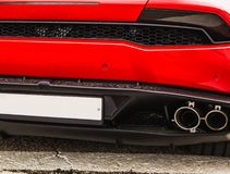 Sport car taillight Royalty Free Stock Photos