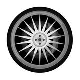 Sport car titanium rim vector icon. Sport car titanium rim icon. Consumables for car, auto service concept, wheel vehicle isolated on white background vector Royalty Free Stock Photo